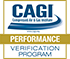 CAGI Performance Verification Program Certificate